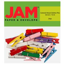 JAM Paper Wood Clip Clothespins 1