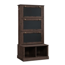 Sauder New Grange Entryway Storage Coffee