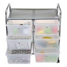 Mind Reader 6 Drawer Rolling Organizer