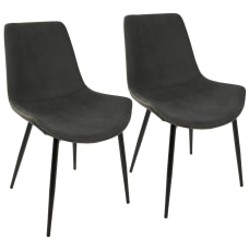 LumiSource Duke Dining Chairs BlackGray Set