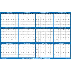 SwiftGlimpse Laminated Academic Wall Calendar 48