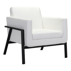 Zuo Modern Homestead Lounge Chair WhiteBlack