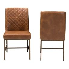 Baxton Studio Mael Chairs Light BrownBronze
