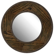 PTM Images Framed Mirror Industrial Round