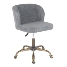 LumiSource Fran Corduroy Task Chair AntiqueSage
