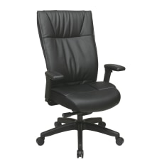 Office Star Contemporary Ergonomic Leather High