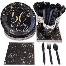 50th Birthday Party Supplies Serves 24
