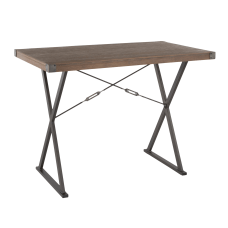 Lumisource Prep Industrial Counter Table Brown