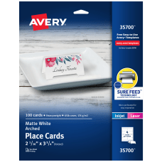 Avery Arched Die Cut Tent Cards