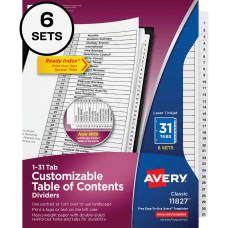 Avery Ready IndexR 31 Tab Binder
