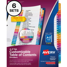Avery A Z Tab Dividers 8