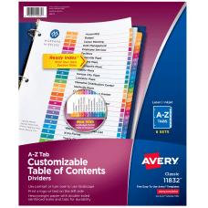 Avery Ready IndexR A Z Binder