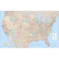 Advantus Laminated USA Wall Map 50