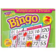 Trend Enterprise Multiplication Division Bingo Games