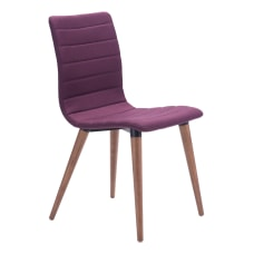 Zuo Modern Jericho Dining Chairs PurpleWalnut