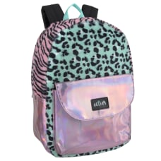 Delias Fuzzy Backpack PinkTealBlack