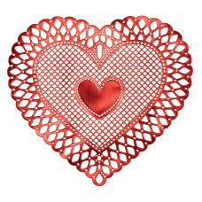 Amscan Heart Vinyl Valentines Day Placemats