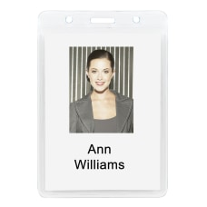 Office Depot Plastic Badge Holders 2