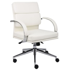 Boss Office Products CaressoftPlus Mid Back
