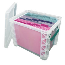 Super Stacker Plastic Storage Container With