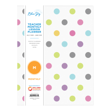 Blue Sky Teacher Monthly PVC Planner