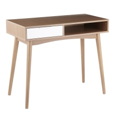 LumiSource Harvey 48 W Desk WhiteNatural