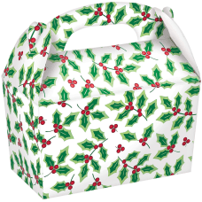 Amscan Christmas Holly Gable Boxes 4