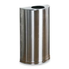 United Receptacle 30percent Recycled Half Round