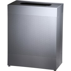 United Receptacle Metallic Rectangle Waste Can