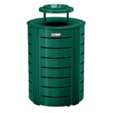Suncast Commercial Metal Trash Can With