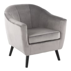 LumiSource Rockwell Contemporary Accent Chair BlackSilver