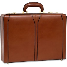 McKleinUSA Turner Leather Attache Case Brown