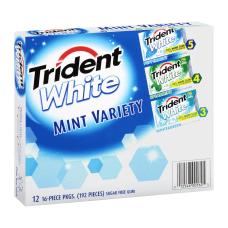 Trident White Mint Gum Box Of