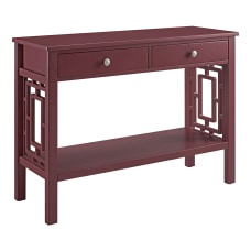 Linon Walsh 2 Drawer Console Table