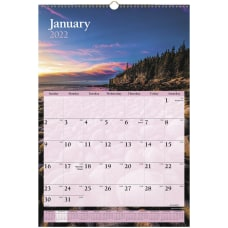 AT A GLANCE Scenic Wall Calendar