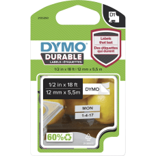 Dymo D1 Labels 12 Rectangle White