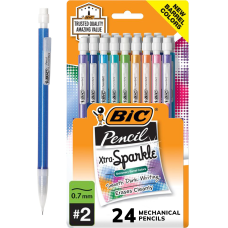 BIC Xtra Sparkle Mechanical Pencils 07mm