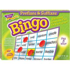 Trend Prefixes and Suffixes Bingo Game