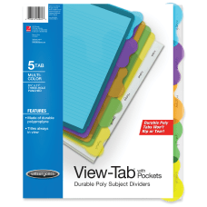 Wilson Jones View Tab Transparent Dividers
