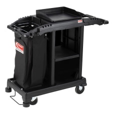 Suncast Commercial Plastic Cart Compact Housekeeping