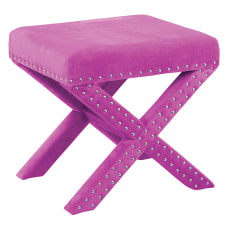 Office Star Accents Katie Bench Lavender