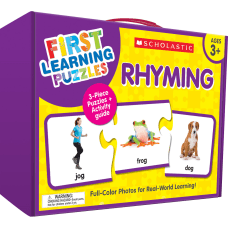 Scholastic First Learning Rhyming Puzzles Pre