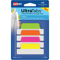 Avery UltraTabs Repositionable Margin Tabs 48