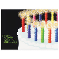 Custom All Occasion Cards Sparkling Candles
