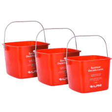 Alpine Sanitizing Buckets 8 Qt Red