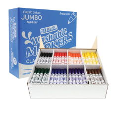 BAZIC Products Washable Markers Assorted Colors