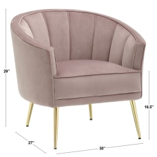 LumiSource Tania Accent Chair GoldPink