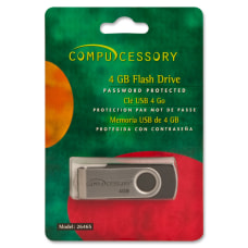 Compucessory Password Protected Flash Drive 4GB