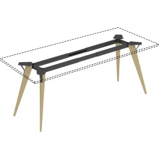 Lorell Relevance Series Natural Wood Desk