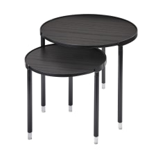 Adesso Blaine Nesting Tables Round Black